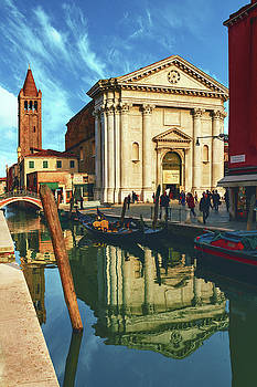 In the waters of the many Venetian canals reflected the majestic cathedrals, towers and bridges by George Westermak