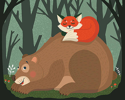 In The woods by Nicole Wilson