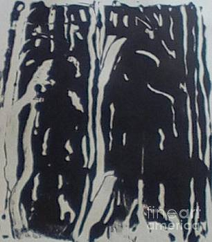 Brenda Plyer - In the Woods No. 3 black and white