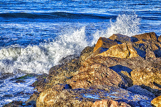 Ocean In the Surf Zone Large Canvas Art, Canvas Print, Large Art, Large Wall Decor, Home Decor by David Millenheft