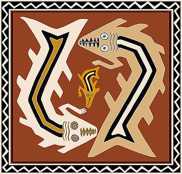 Inca Serpent Dance by Vagabond Folk Art - Virginia Vivier