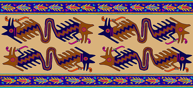 Inca Serprent Spirits by Vagabond Folk Art - Virginia Vivier