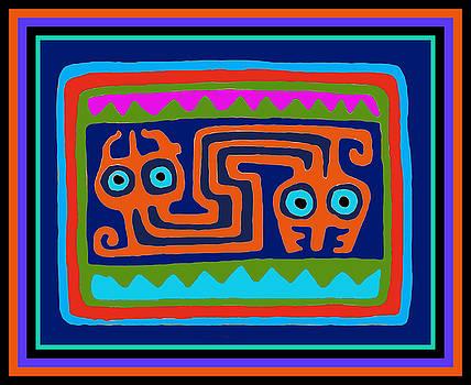 Inca Tribal Serpent Spirits by Vagabond Folk Art - Virginia Vivier