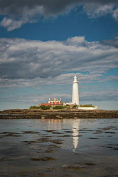 Incoming tide at St Mary's by Gary Eason