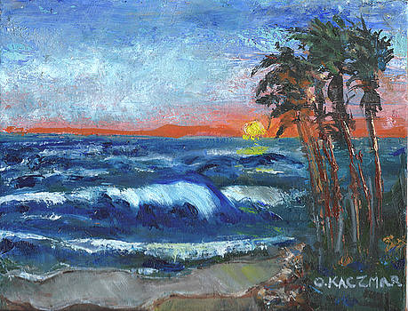 Incoming Tide on California Beach by Olga Kaczmar