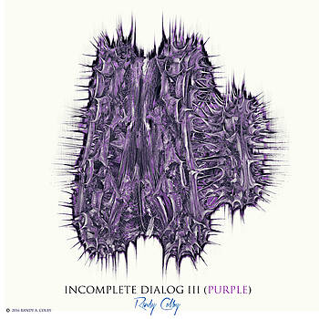 Incomplete Dialog III Purple by Randy Colby