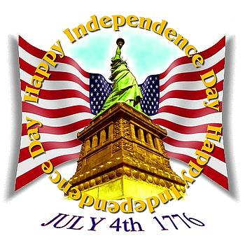Independence Day July 4th 1776 Design by Art America Gallery Peter Potter