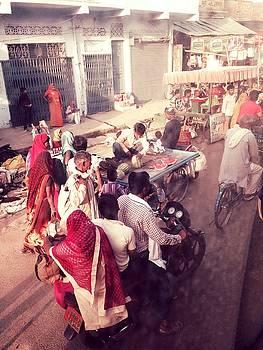 LeLa Becker - India market in red