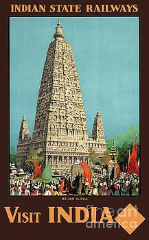 India Railways Vintage Travel Poster Restored by Carsten Reisinger