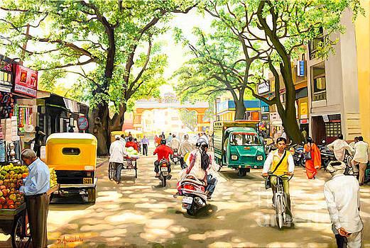 India Street Scene 4 by Dominique Amendola