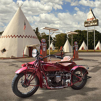 Mike McGlothlen - Indian 4 Motorcycle with sidecar
