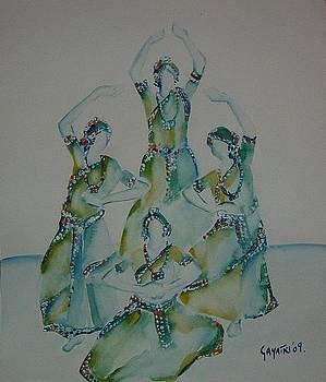 Indian Classical Dancers by Gayatri Manchanda