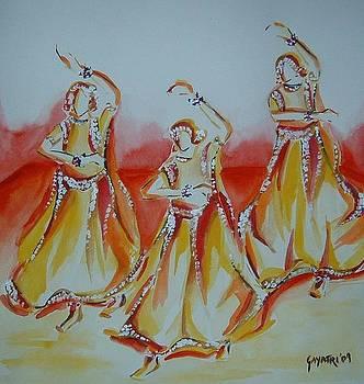 Indian dancers by Gayatri Manchanda