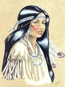 Indian Girl by George I Perez
