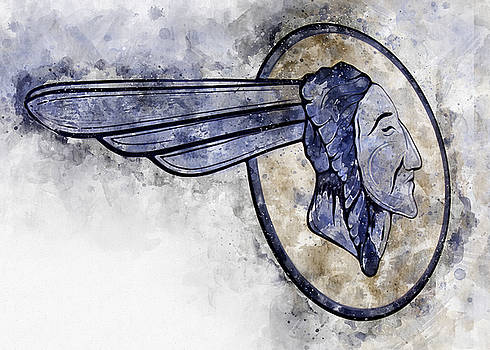 Indian Head Watercolor by Michael Colgate