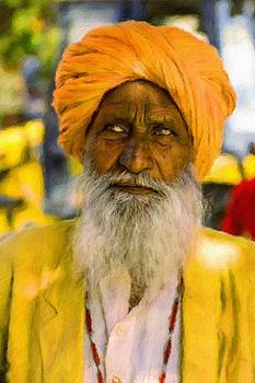 Indian old man by Vincent Monozlay