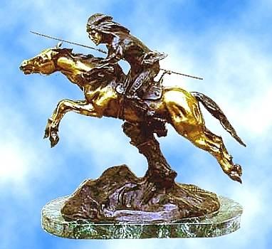 Indian on Horseback by Antoine Bofill