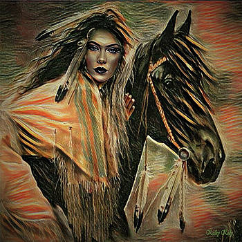 Kathy Kelly - American Indian on Horse