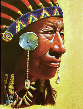 Indian portrait by Martin Howard