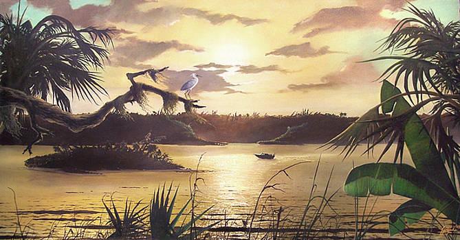 Indian River Dawn by James R Hahn