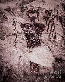 Indian Shaman Rock Art by Gary Whitton