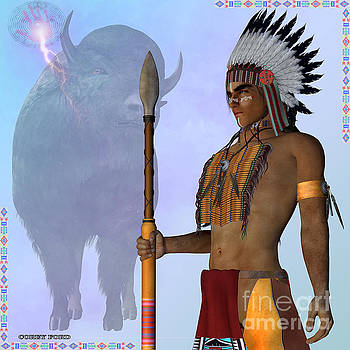 Corey Ford - Indian Standing Buffalo