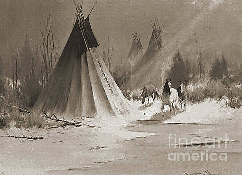 Indian Tee Pee by Gary Wonning
