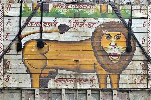 Indian Truck Art 4 - Lion by Kim Bemis