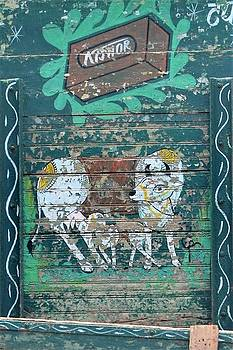 Indian Truck Art 7 - Cow and Calf by Kim Bemis