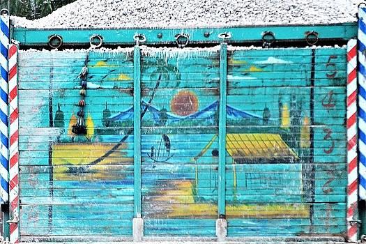 Indian Truck Art 8 - Lake Scene by Kim Bemis