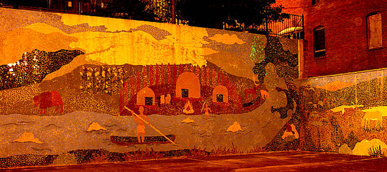 Indian Village Mural by Don Whipple
