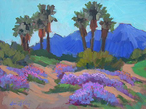 Indian Wells Verbena by Diane McClary