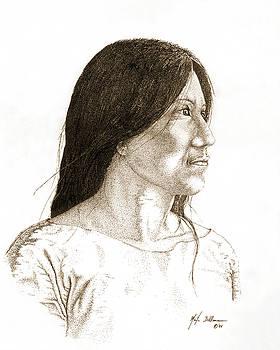 Indian Woman by Martin Bellmann