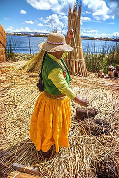 Eduardo Huelin - Indian woman peddling her wares Puno Peru