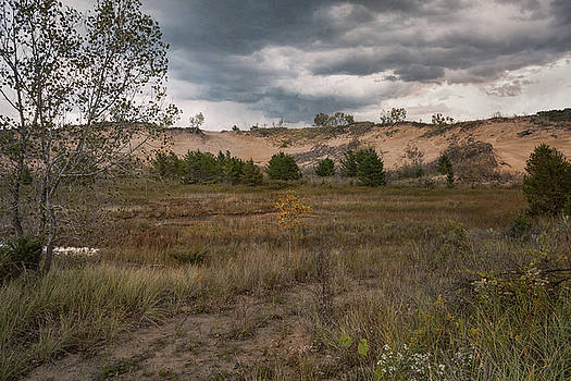 Indiana Dunes and the Beckoning Storm by John M Bailey