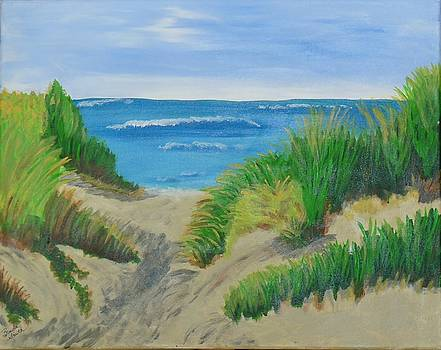 Indiana Dunes on Lake Michigan by Brenda L Smith