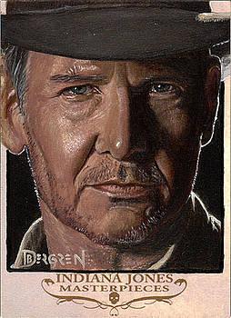 Indiana Jones Masterpieces Sketch Card by Daniel Bergren