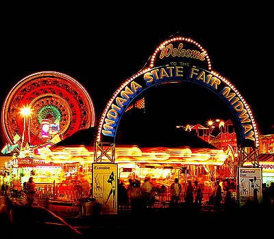 Indiana State Fair Midway by Rob Banayote