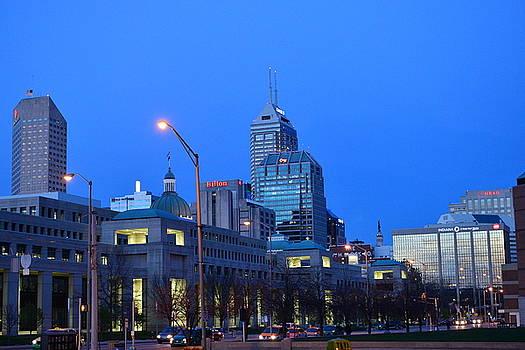 Indianapolis at sunrise by Rob Banayote