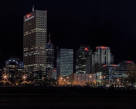 Indianapolis Night Skyline by Timothy Bonesho