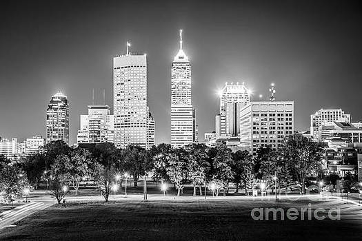 Indianapolis Skyline Black and White Picture by Paul Velgos
