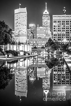 Indianapolis Skyline Central Canal Black and White Photo by Paul Velgos