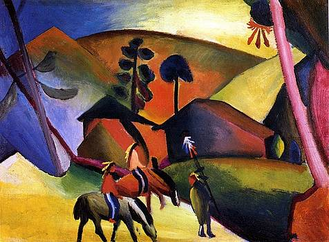 August Macke - Indians On Horses