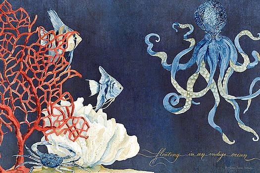 Indigo Ocean - Floating Octopus by Audrey Jeanne Roberts