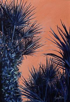 Indigo palms by Joyce Nash