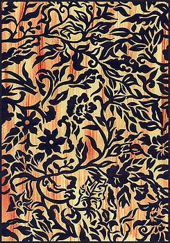 Indigo Tatoo Floral by Leslie Marcus