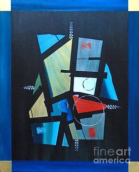 Industrial Abstractica Blue 1 by John Lyes