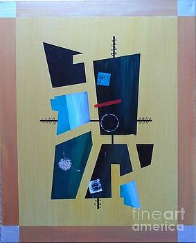Industrial Abstractica Gold 1 by John Lyes