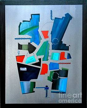 Industrial Abstractica Grey 3 by John Lyes
