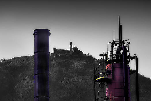 Enrico Pelos - INDUSTRIAL ARCHEOLOGY REFINERY PLANT WITH GUARDIA MOUNT SANCTUARY
